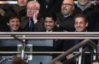 Nasser Al Khelaifi, Leonardo, Nicolas Sarkozy - Parigi - 16-01-2013 - Leonardo: ricovero lampo per un malore