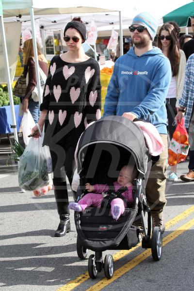 Pearl Osbourne, Lisa Stelly, Jack Osbourne - Los Angeles - 23-12-2012 - A tre ruote, colorato o tutto blu: a ognuno il suo passeggino