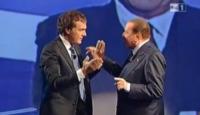 Massimo Giletti, Silvio Berlusconi - Roma - 24-12-2012 - Rai, L'Arena chiude i battenti. Che fine farà Massimo Giletti?