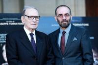 Giuseppe Tornatore, Ennio Morricone - Roma - 28-12-2012 - Ennio Morricone, per la sesta volta candidato agli Oscar