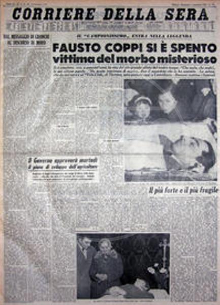 Corriere Della Sera - 02-01-2010 - 53 anni fa moriva Fausto Coppi, il Campionissimo
