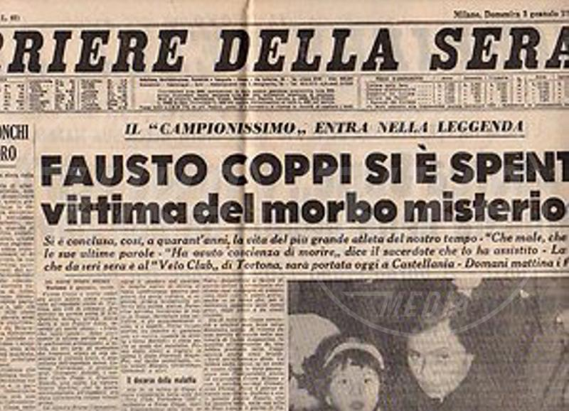 Corriere Della Sera - 53 anni fa moriva Fausto Coppi, il Campionissimo