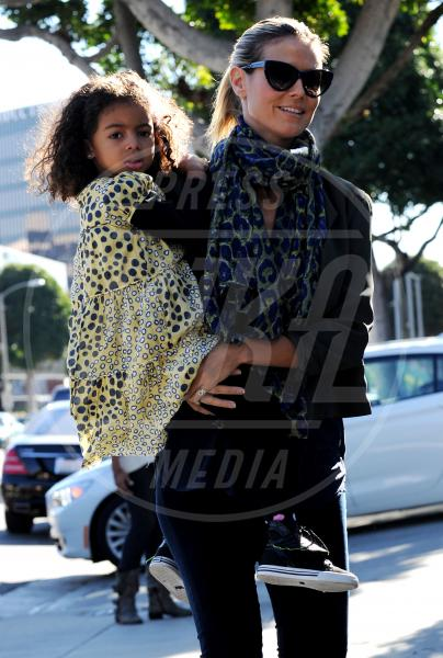 Leni Samuel, Lou Samuel, Heidi Klum - Beverly Hills - 03-01-2013 - Eva Mendes e il maculato: un abbinamento perfetto
