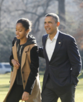 Sasha Obama, Barack Obama - Washington - 05-01-2013 - Primo Ministro? Presidente? No, mammo