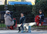 Tina Cipollari - Valencia - 11-01-2013 - Tina Cipollari e Chicco Nalli volano a Valencia con i figli