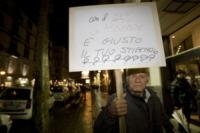 Luca Barbareschi - Napoli - 16-01-2013 - Sit-in di protesta contro