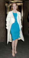 Jessica Chastain - New York - 18-01-2013 - Le celebrities vanno in bianco… anche d'inverno!