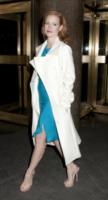 Jessica Chastain - New York - 18-01-2013 - En pendant con l'inverno con un cappotto bianco