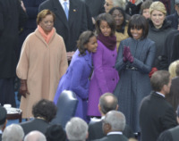 Sasha Obama, Malia Obama, Michelle Obama, Barack Obama - Washington - 21-01-2013 - Obama, cerimonia d'insediamento per il secondo mandato