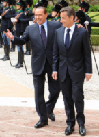 Nicolas Sarkozy, Silvio Berlusconi - Roma - 26-04-2011 - L'ex presidente Sarkozy in stato di fermo per concussione