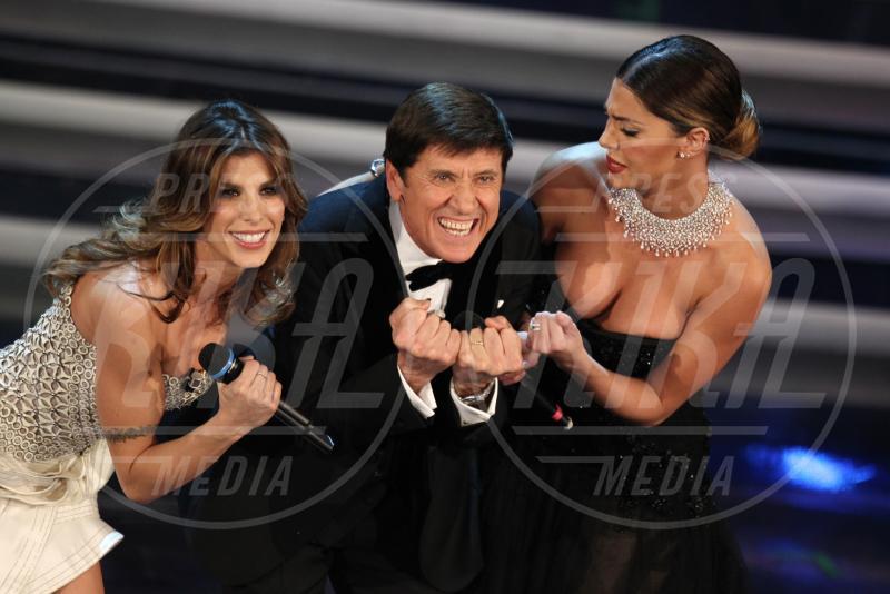 Gianni Morandi, Belen Rodriguez, Elisabetta Canalis - Sanremo - 15-02-2012 - Emma e Arisa, da vincenti a vallette di Sanremo 2015?