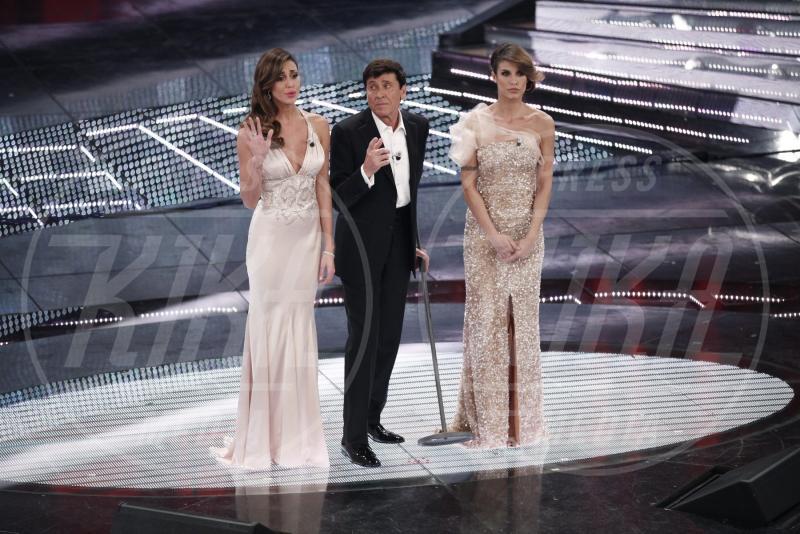 Gianni Morandi, Belen Rodriguez, Elisabetta Canalis - Sanremo - 20-02-2012 - Emma e Arisa, da vincenti a vallette di Sanremo 2015?