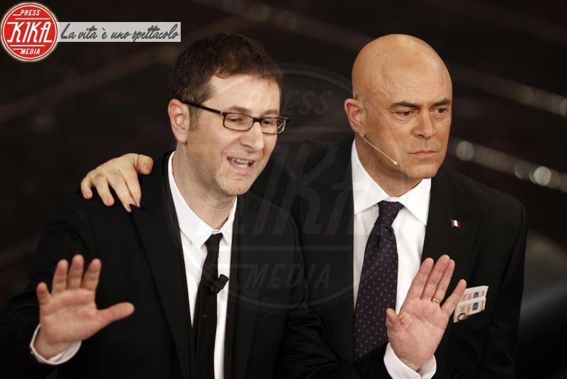 Maurizio Crozza, Fabio Fazio - Sanremo - 13-02-2013 - Sanremo: tutti i cavalli pazzi dell'Ariston