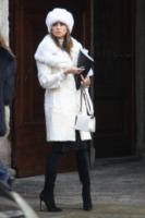 Claudia Galanti - Milano - 12-02-2013 - En pendant con l'inverno con un cappotto bianco