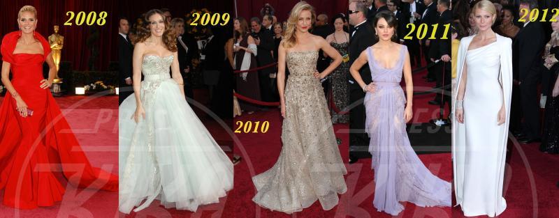 Mila Kunis, Heidi Klum, Gwyneth Paltrow, Sarah Jessica Parker, Cameron Diaz - Hollywood - L'Oscar dell'eleganza 2008-2012: cinque anni di best dressed