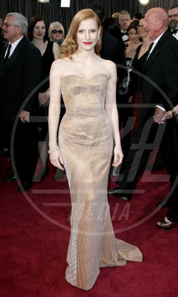 Jessica Chastain - Los Angeles - 24-02-2013 - Oscar dell'eleganza 2010-2014: 5 anni di best dressed