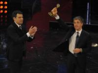 Fabrizio Frizzi, Massimo Giletti - Sanremo - 13-03-2013 - Oscar della tv: Festival di Sanremo miglior programma