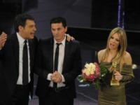 Fabrizio Frizzi, Teo Mammucari, Ilary Blasi - Sanremo - 13-03-2013 - Oscar della tv: Festival di Sanremo miglior programma
