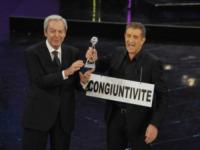 Daniele Piombi, Ezio Greggio - Sanremo - 13-03-2013 - Oscar della tv: Festival di Sanremo miglior programma