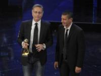 Luca Laurenti, Paolo Bonolis - Sanremo - 13-03-2013 - Oscar della tv: Festival di Sanremo miglior programma