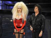 Pamela Camassa, Giò Di Tonno - Sanremo - 13-03-2013 - Oscar della tv: Festival di Sanremo miglior programma