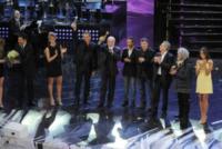 Velina, Antonio Ricci, Ezio Greggio - Striscia la notizia - Sanremo - 13-03-2013 - Oscar della tv: Festival di Sanremo miglior programma