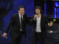 Simone Annichiarico, Fabrizio Frizzi - Sanremo - 13-03-2013 - Oscar della tv: Festival di Sanremo miglior programma