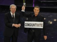 Daniele Piombi, Ezio Greggio - Sanremo - 13-03-2013 - Addio Daniele Piombi, il presentatore muore a 83 anni