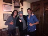 Edinson Cavani, Alessandro Siani - Milano - 19-03-2013 - Dillo con un tweet: esordio hot su Instagram per Raffaella Fico
