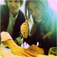 Giuseppe Cruciani, Selvaggia Lucarelli - Milano - 08-04-2013 - Dillo con un tweet: Lucarelli scherza sulla ferita del collega