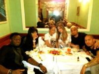 Kevin-Prince Boateng, Sulley Muntari, Melissa Satta - Milano - 15-04-2013 - Dillo con un tweet: un felino sulla pelle per Anna Tatangelo