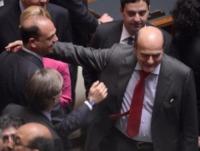 Angelino Alfano, Pierluigi Bersani - Parlamento Italiano - Roma - 18-04-2013 - Pierluigi Bersani ricoverato a Parma per un malore