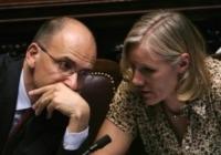 Josefa Idem, Enrico Letta - Roma - 26-04-2013 - Dallo sport alla politica il passo è breve