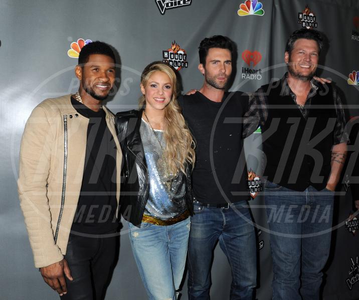 "Shakira, Usher, Adam Levine, Blake Shelton - West Hollywood - 07-05-2013 - Shakira in forma ""decente"" dopo il parto di Milan"