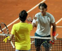 Fabio Fognini, Rafael Nadal - Roma - 15-05-2013 - Nadal spazza via Fognini agli Internazionali d'Italia