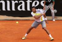 Jo-Wilfried Tsonga - Roma - 15-05-2013 - Jerzy Janowicz si strappa la maglietta come Hulk