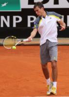 Jerzy Janowicz - Roma - 15-05-2013 - Jerzy Janowicz si strappa la maglietta come Hulk