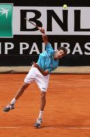 Marcel Granollers - Roma - 15-05-2013 - Jerzy Janowicz si strappa la maglietta come Hulk