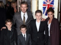 Cruz Beckham, Romeo Beckham, Brooklyn Beckham, David Beckham, Victoria Beckham - Londra - 11-12-2012 - I Beckham traslocano a casa di Gianni Versace