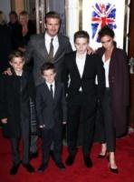 Cruz Beckham, Romeo Beckham, Brooklyn Beckham, David Beckham, Victoria Beckham - Londra - 11-12-2012 - David Beckham annuncia il suo ritiro dal calcio