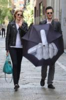 Matteo Ceccarini, Eva Riccobono - Milano - 17-05-2013 - Lo scatto di Eva Riccobono che allatta finisce sui social