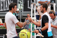 Benoit Paire, Juan Martin Del Potro - Roma - 16-05-2013 - Internazionali di tennis: ritiro Sharapova, Errani in semifinale