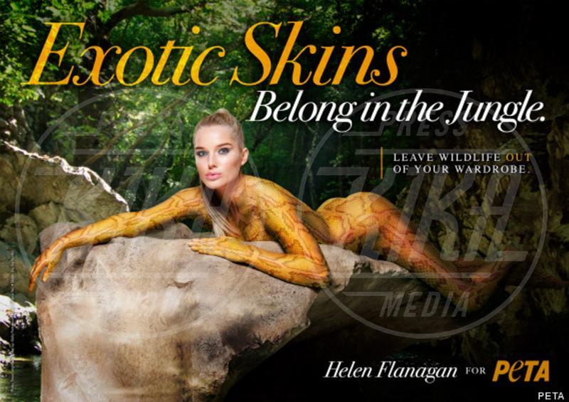 Helen Flanagan - Londra - 23-05-2013 - Helen Flanagan nuda contro la crudeltà verso gli animali