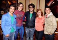 Rebecca Faulkenberry, Ignazio Boschetto, Gianluca Ginoble, Piero Barone, Reeve Carney - New York - 26-05-2013 - Il Volo atterra a Broadway per il musical Spider-Man