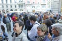 Camera ardente Franca Rame - Milano - 30-05-2013 - Camera ardente di Franca Rame: Dario Fo accoglie Carla Fracci