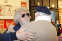Dario Fo, Beppe Grillo - Milano - 31-05-2013 - Milano dàl'ultimo saluto a Franca Rame
