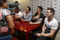 Blue, Duncan James, Lee Ryan, Anthony Costa, Simon Webbe - Milano - 08-06-2013 - I Blue firmano le copie di Roulette a Milano