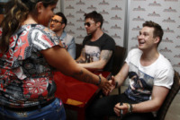 Blue, Duncan James, Lee Ryan, Anthony Costa - Milano - 08-06-2013 - I Blue firmano le copie di Roulette a Milano