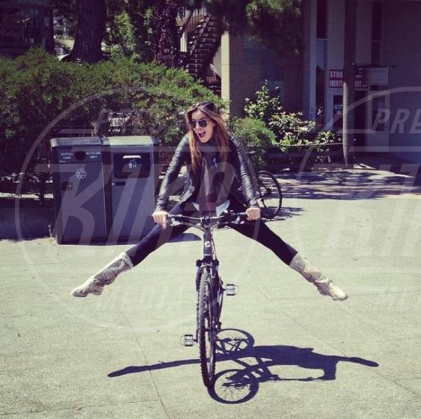 Aida Yespica - Milano - 10-06-2013 -  Dove vai se la bicicletta, trendy, non ce l'hai?