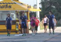 Leonardo Bonucci, Gianluigi Buffon, Andrea Pirlo - Rio de Janeiro - 11-06-2013 - Gli azzurri vanno alla scoperta di Rio De Janeiro